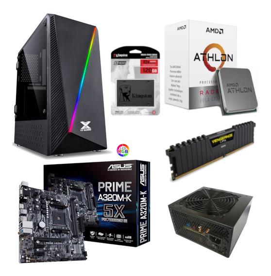 Pc Pyxis Athlon 200ge A320m K Vg 4gb Bc350 Ssd 120gb