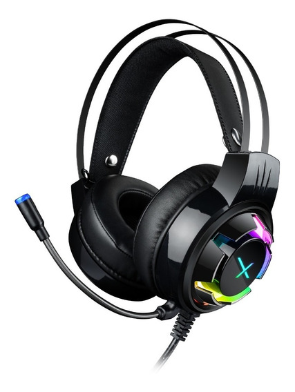 Audifonos Gamer Diadema 7.1 Para Pc Laptop Usb 2.2m Stylos Xzeal Headset Led Rgb Con Vibracion
