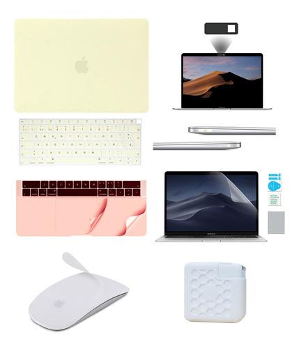 Kit Carcasa Case Español 8 En 1 Macbook Air Pro Retina Touch