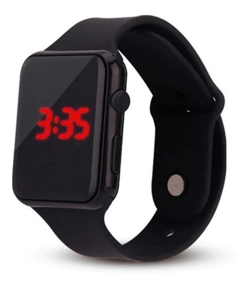 Relógio De Pulso Digital Led Hora Data