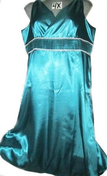 Vestido Azul Celeste Spandex De Gala Talla 4x ( 28w )