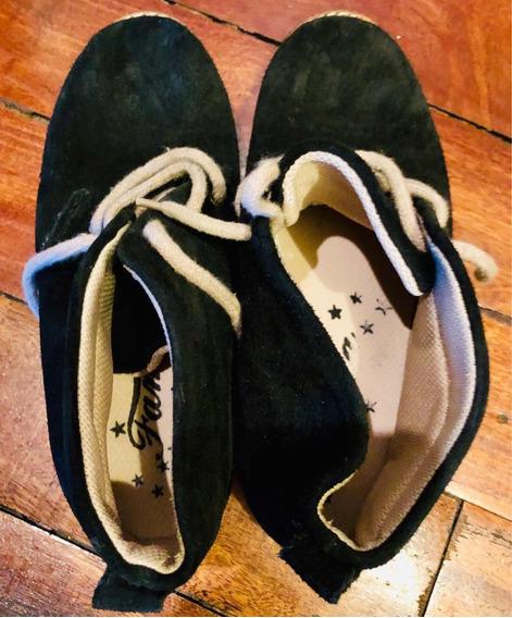 Zapatos Gamuza Para Niño Azul Oscuro