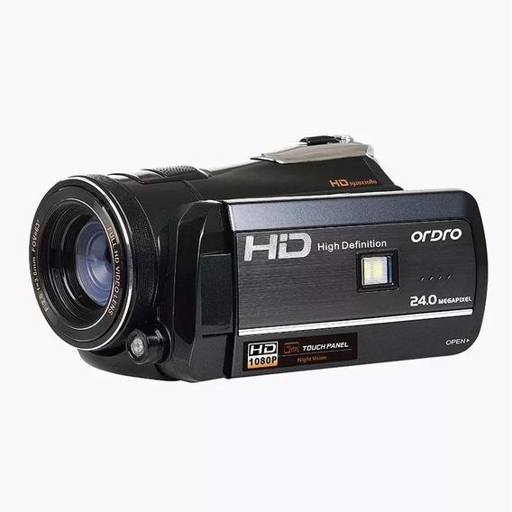 Câmera Filmadora Digital Semi Profissional Visão Ful Hd