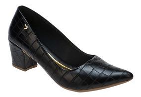 Sapato Feminino Scarpin Salto Grosso Conforto | P02cr.scp