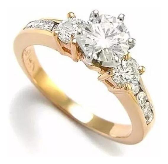Anillo Compromiso Oro Amarillo 18kt Oferta Especial -50% Abc