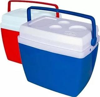 Caixa Térmica Cooler 34 Litros C/ Alça E Porta Copos Mor