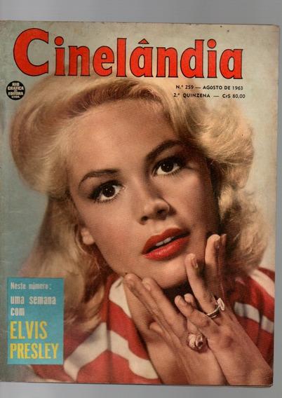 Revista Cinelândia Uma Semana Com Elvis Presley Nº259 1963