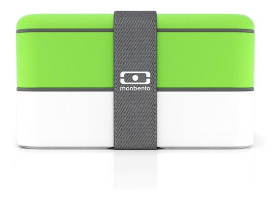 Marmita Lunchbox Mb Original Branco E Verde Monbento Bento Store