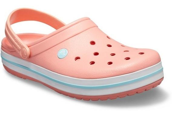 Crocs Crocband Coral Melon Ice Blue Original Envío Gratis