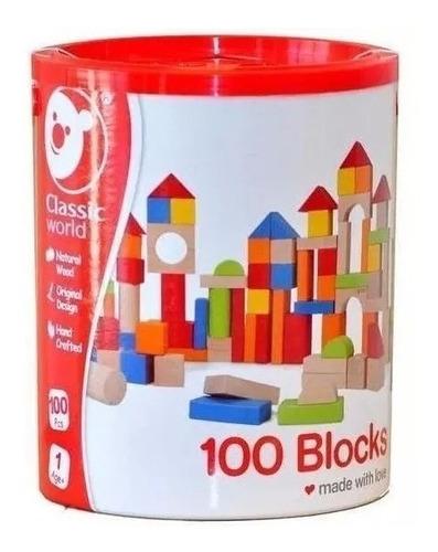 Bloques De Madera 100 Piezas Classic World