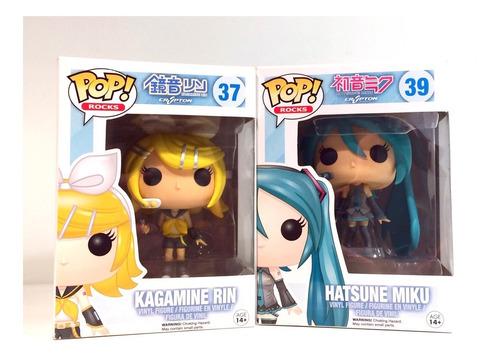 Imagen 1 de 4 de Colección Funko Pop Hatsune Miku Y Kagamine Rin (nuevo)