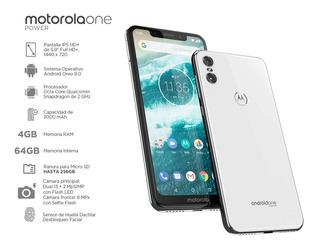 Motorola One (xt1941-3 ) Dual Sim 64gb Ram 3000mah+ Obsequio