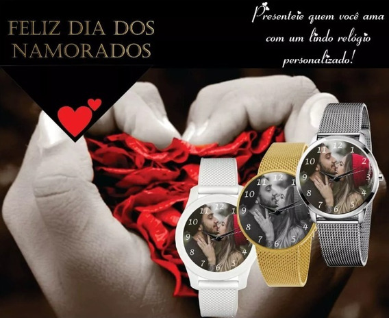 Relógio De Pulso Personalizado Feminino Dia Dos Namorados