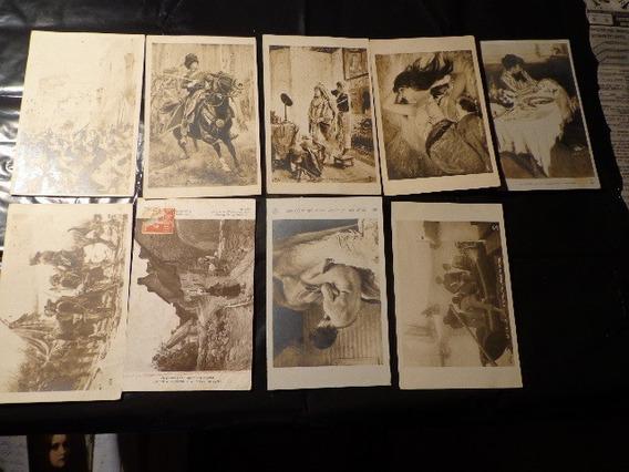Expo - Salon -1907-8-9 Y 13 - Lote X 9- Famosas Pinturas