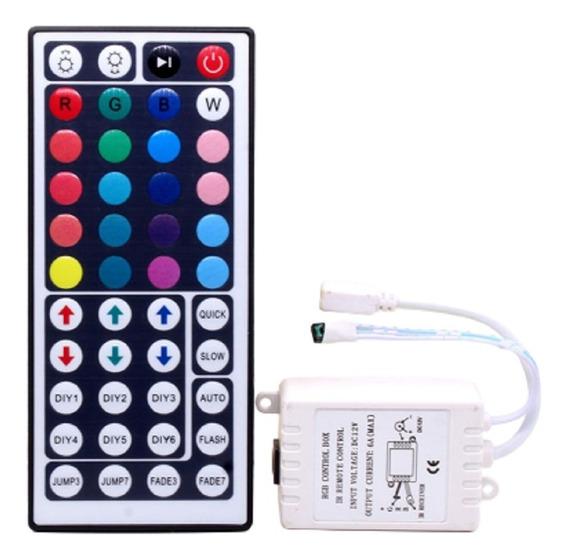 Controle Remoto Ir 44 Teclas + Receptor Para Fita De Leds