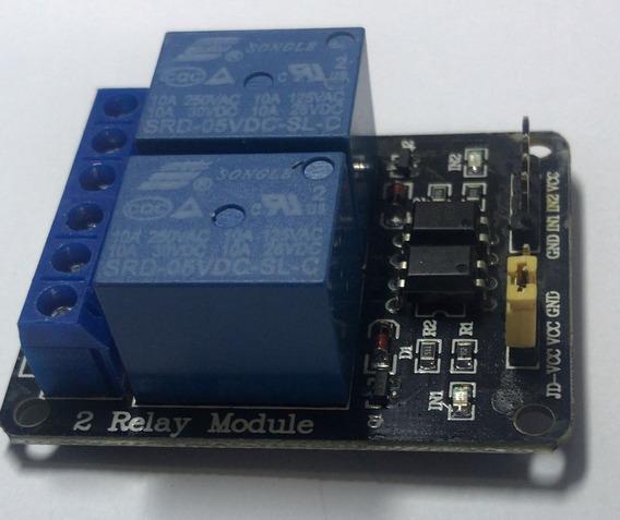 Módulo Relé Rele Relay 2 Canais 5v Arduino Pic Raspberry Pi