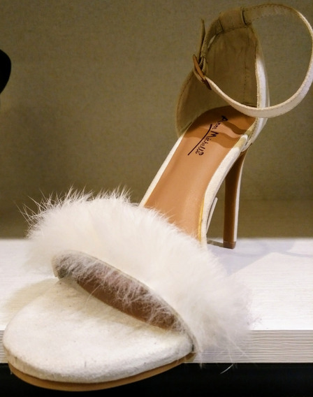 Zapatos De Fiesta Con Plumas !! Envío Gratis!!!