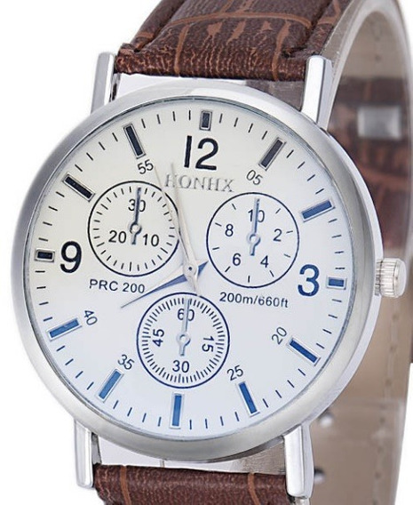 Relógio Masculino Social Luxo Barato Couro Sintético