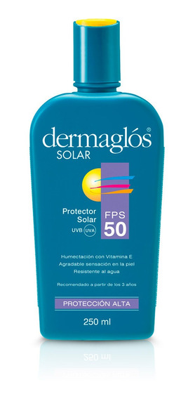 Protector Solar Dermaglos Emulsion Fps50 Piel Sensible 250ml