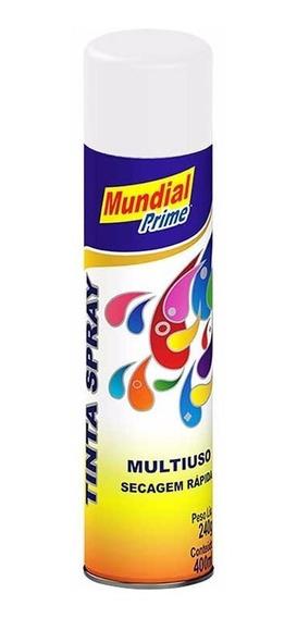 Tinta Spray Automotiva Uso Geral 400ml - Branco - 3 Unidades