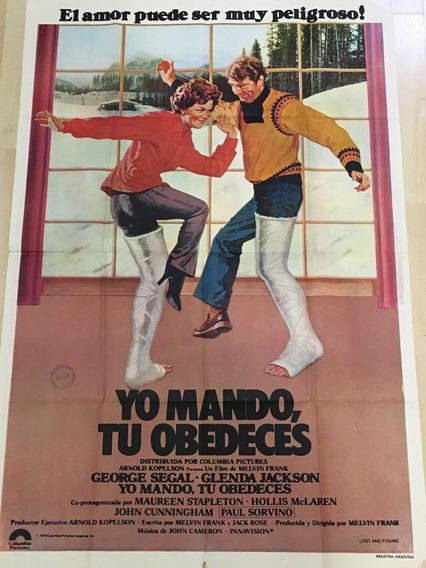 Afiche Poster Original Yo Mando, Tú Obedeces 1979, M. Frank