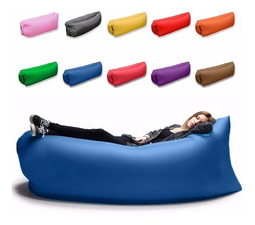 Pack X4 Sillones Inflable Flotador Lazy Bag Reposera Tumbona