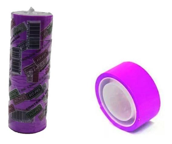 Fita Adesiva 12x10 Durex Colorido Pacote Com 10