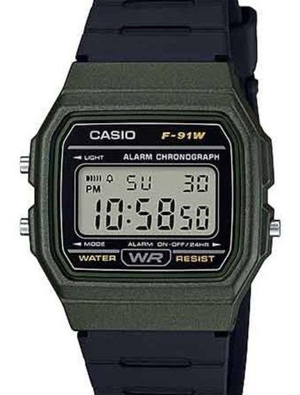 Relógio Casio Unissex Vintage Digital F-91wm-3adf-br