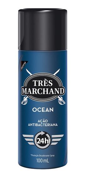 Desodorante Spray Très Marchand Masculino Ocean 100ml