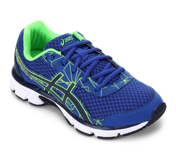 Tenis Asics Infantil Gel Light Play 4 A Gs Azul - Original