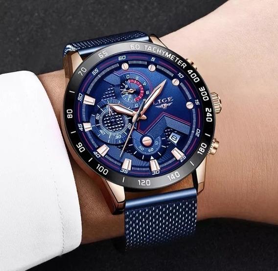 *promoção* Relógio Masculino Importado, Estilo De Luxo Lige