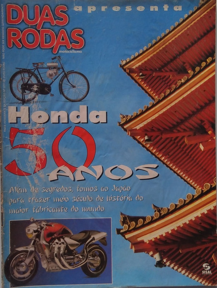 Revista Duas Rodas. Honda 50 Anos. Raridade.