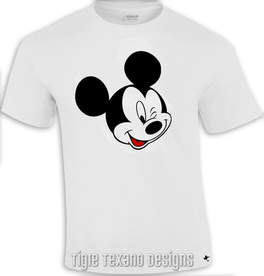 Playera Dibujo Animado Mickey Mouse M.3 Tigre Texano Designs