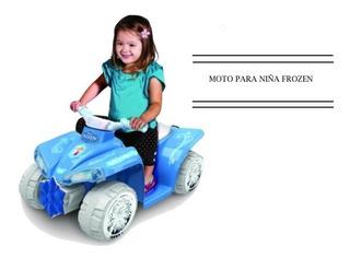 Motocicleta Eléctrica Para Niña 6v Disney Frozen Xtreme C
