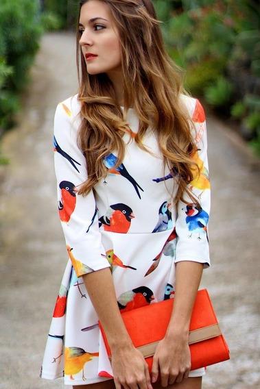 Vestido De Aves