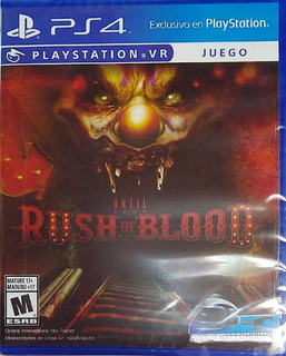 Until Dawn Rush Of Blood Ps4 Fisico Español Original Nuevo