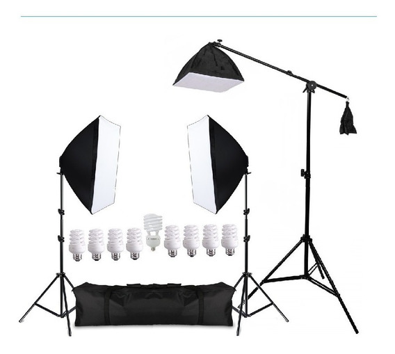 Estudio Kit Iluminação 495w P/ Fotografia E Video Pk-sb03