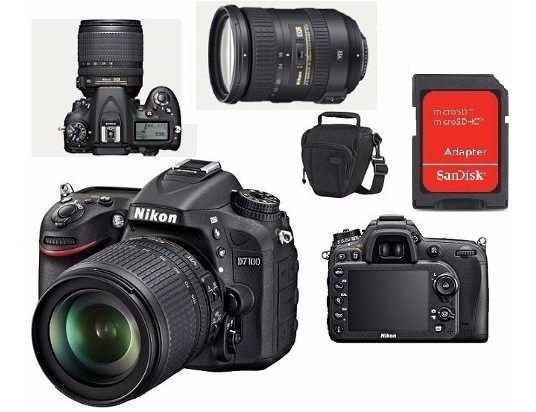 Nikon D7100 Lente 18-200mm + Bolsa+cartao 4gb