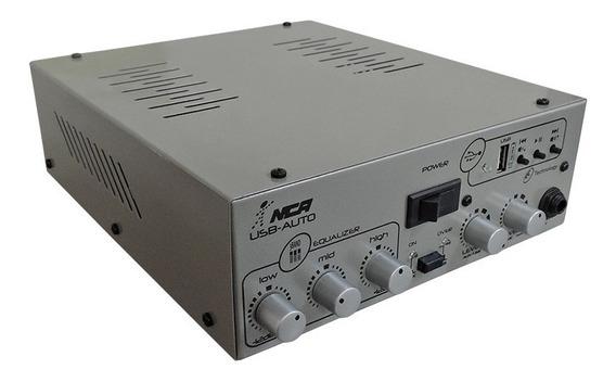 Amplificador Compacto Nca Usb Auto 12v 1 Canal 25w Rms 4r
