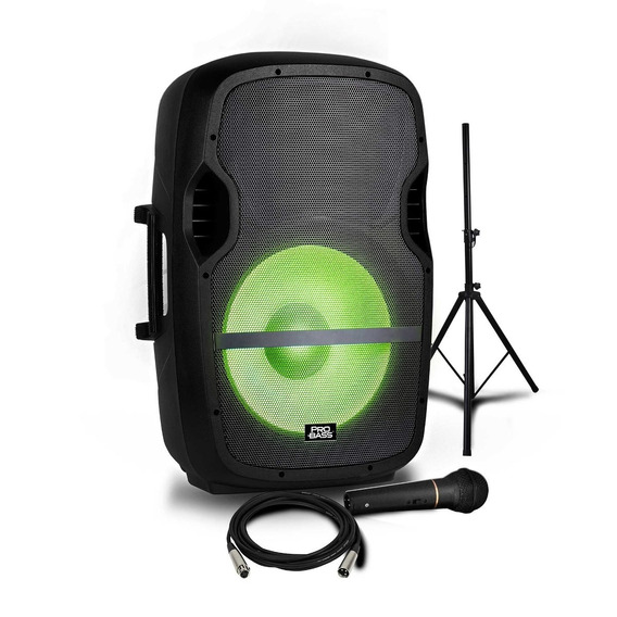 Caixa De Som Amplificada 15pol Probass C/ Microfone E Tripé