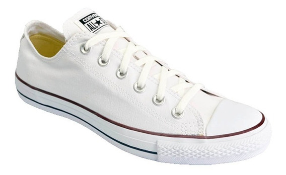 Zapatilla Converse All Star Low Lona Color Original Blanco