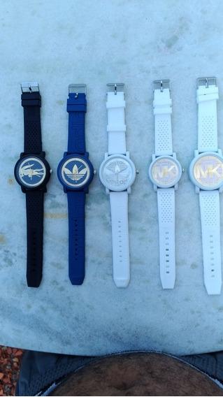 5 Relógios Unissex Variados Moda Top Atacado Leve Revenda