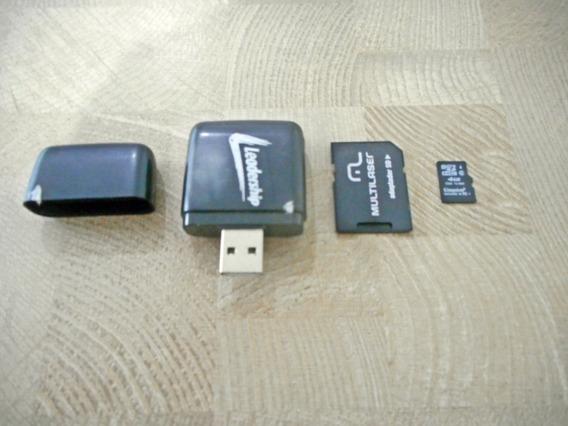 Cartão De Memoria Micro Sd 4 Gb + Adaptador Sd + Leitor