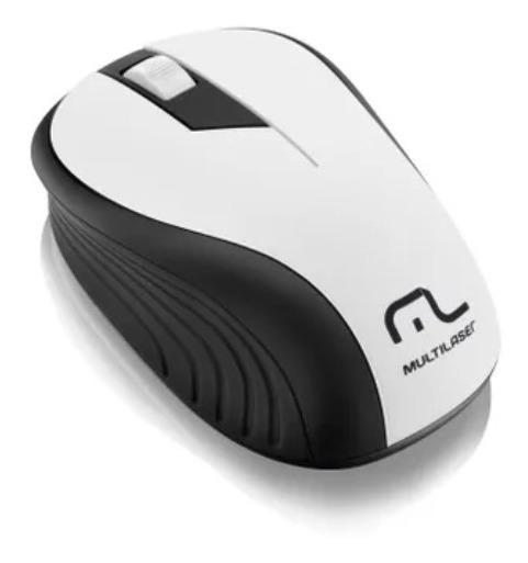 Mouse Sem Fio 2.4ghz Preto E Branco Usb Multilaser Mo216