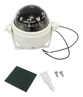 Bussola Com Iluminação Base Ajustável 55mm Branca Ou Preta