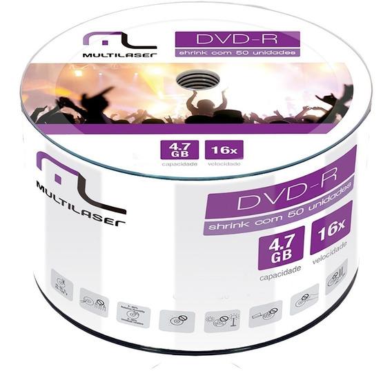 Dvd Midia Dvd-r C/50 Un Multilaser Dv061 Barato Promoção