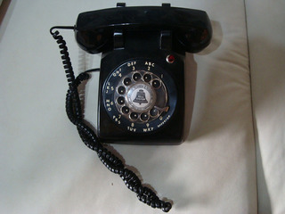 Telefone Anos 50 At&t De Baquelite Importado, Funcionando !