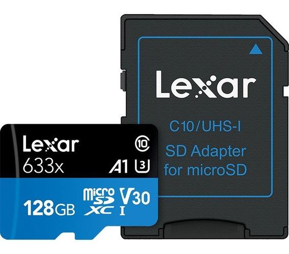 Cartão Lexar 128gb Micro Sd 633x A1 Sdxc U3 4k 95mb/s