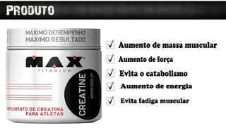 Creatina - 300g - Max Titanium - Rd Suplementos Bh