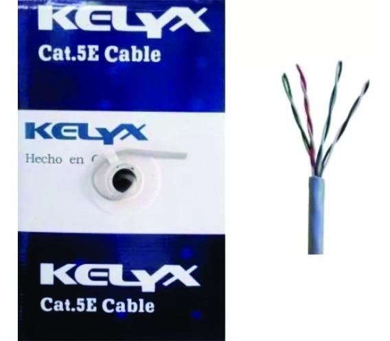 Bobina Rollo Cable Utp Kelyx Red Lan Cat 5e Interior 305 Mts
